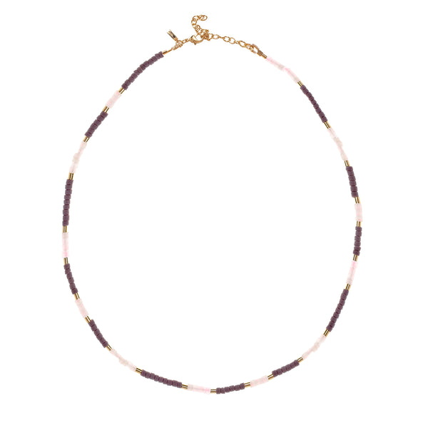 Newport Necklace - Gold Plum