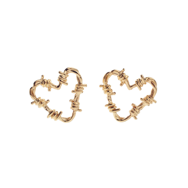 Fetish Earrings Small (2cm) Gold