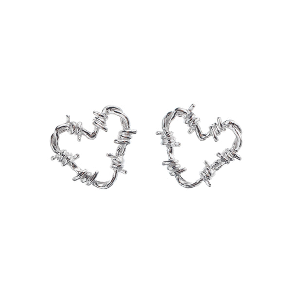 Fetish Earrings Small (2cm) Silver