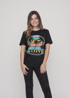 TOMNATIVE - PALM TREE TRIBE - T-SHIRT BLACK (TN)
