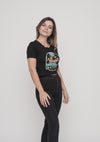 TOMNATIVE - PALM TREE TRIBE - GIRLIE T-SHIRT BLACK (TN)
