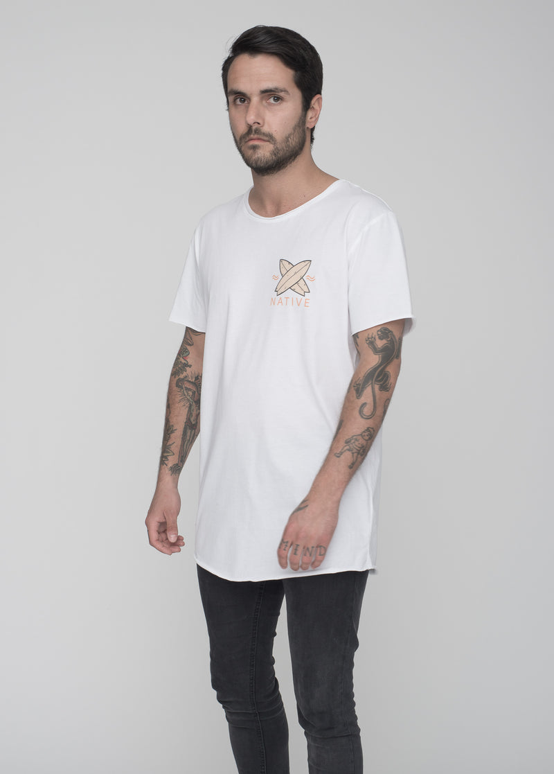 TOMNATIVE - WELLENREITER - T-SHIRT WHITE (TN)