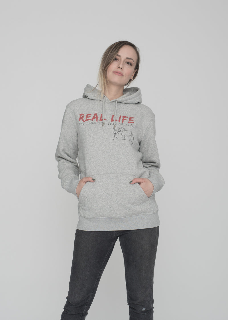 LIMAK - REAL LIFE HEATHER GREY HOODIE (LMK)