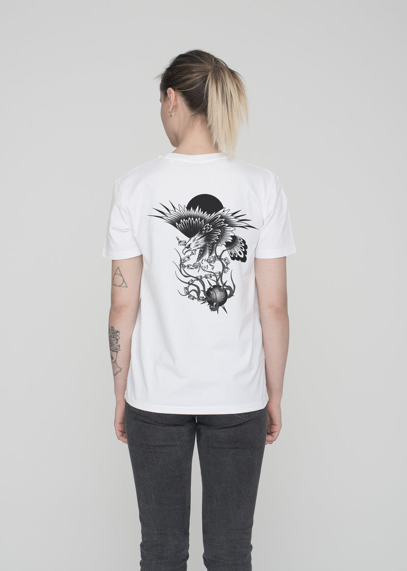 RENE KLEIN TATTOO - EAGLE T-SHIRT WHITE (RKT)