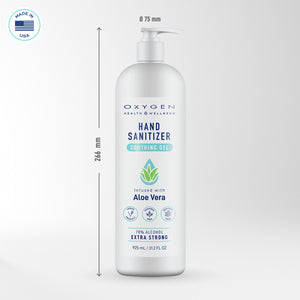 height measurements of large hand sanitizer