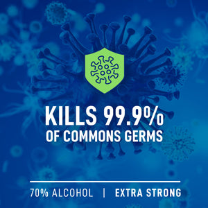Kills 99.9 % of common germs