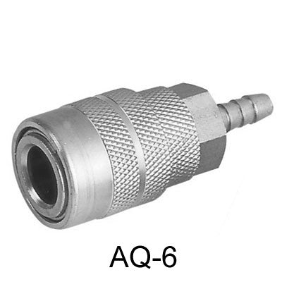 "10pcs AIR CONNECTOR, 1/4"", US-Type, Hose end, Female (AQ-6-10)"