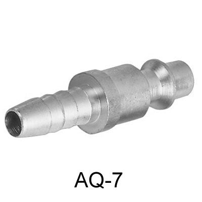 "Air Connector, 1/4"", US-Type, Hose end, Male (AQ-7)"