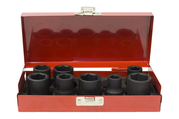 "1/2"" Impact deep socket 8pcs set (JQ-38-12-8set)"