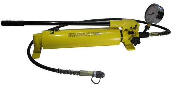 Hydraulic Hand Pump with Pressure Gauge (10.000psi-165in³) (B-700AB)