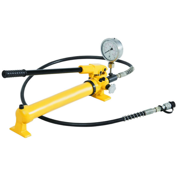 Hydraulic Hand Pump with Pressure Gauge (10.000psi-43in³) (B-700B)