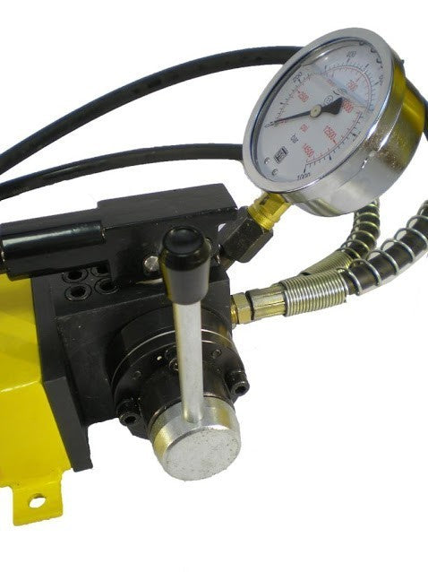 Double Acting Hydraulic Pump, Pressure Gauge (10000psi-183in³) (B-700S)