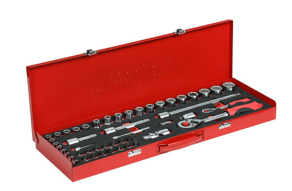 Socket set 1/4+1/2 49pcs (R46004049) (3300010)