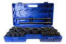 "1"" and 3/4"" Drive Metric Impact Socket Set 21-65mm ( 26 pcs ) (JQ-1-26set)"