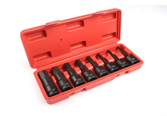 "1/2"" Drive Metric Deep Impact Socket Set 5-19mm Hex ( 8pcs ) 3"" deep (JQ-78-12-8set-HEX)"