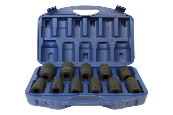 "1"" Drive Metric Deep Impact socket set 22-46mm Hex (3.2"" deep) (JQ-80-1-11set)"