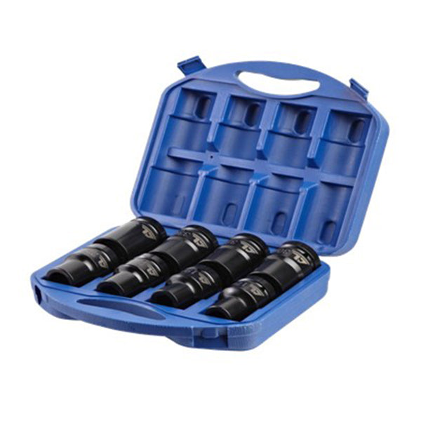 "1"" 80mm length Impact Socket (8pcs) set SAE (7/8-15/16-1""-1.1/16-1.1/8-1.3/16-1.1/4-1.1/2) (JQ-80-1-8SET-SAE)"