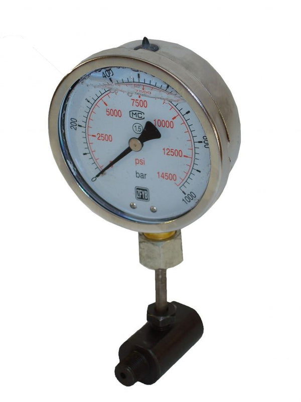 "Hydraulic Pressure Gauge wit Stand (14.500 psi - 4"") (SPG100)"