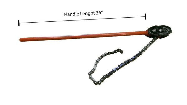 Chain Pipe Wrench (8'', Handle Length 36'') (WT2093)