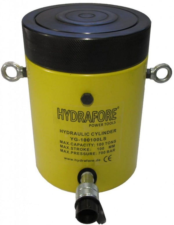 "Single-acting Cylinder with Lock nut (100tons 4"") (YG-100100LS)"
