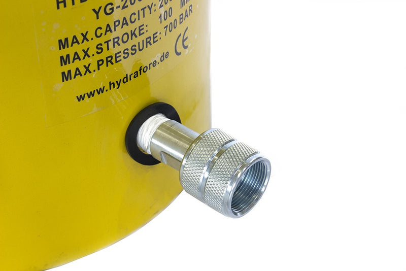 "Single-acting Cylinder with Lock nut (200Tons-4"") (YG-200100LS)"