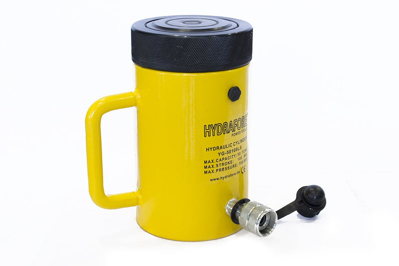 "Single-acting Cylinder with Lock nut (50tons 4"") (YG-50100LS)"