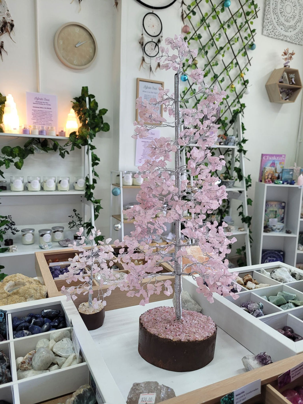 Extra Large Rose Quartz Crystal Tree