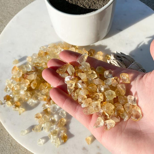 Citrine Crystal Chips