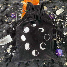 Load image into Gallery viewer, Velvet Moon Phase Tarot Pouch