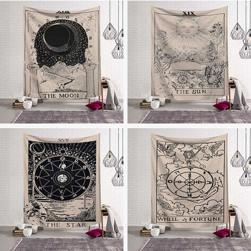 Tarot inspired Tapestry Wall Hangings