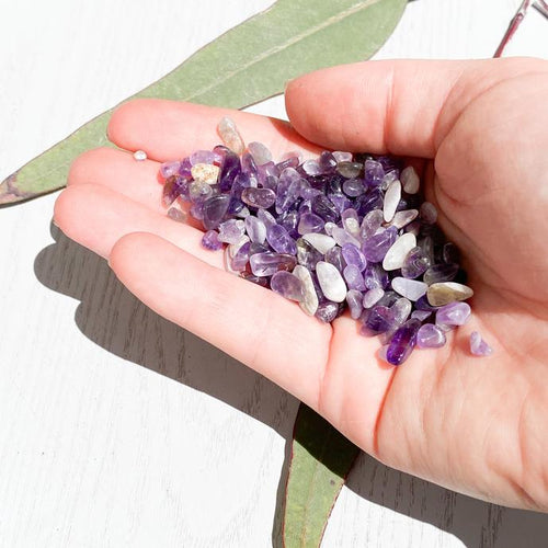 Amethyst Crystal Chips