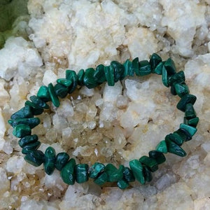 Malachite Crystal Chip Bracelet