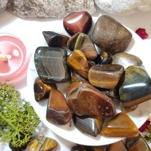 Tigers Eye Tumbled Stone