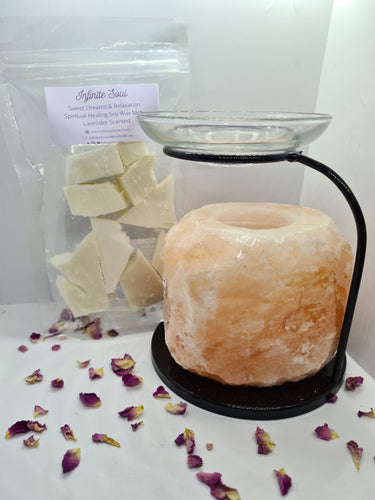 Himalayan Oil burner + Spiritual Healing Soy Wax Melt Bundle
