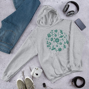 Unisex Hoodie: Green Magic