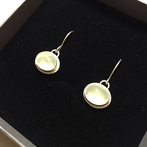 Prehnite Oval Drop Earrings