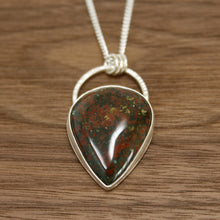 Load image into Gallery viewer, Bloodstone Teardrop Pendant