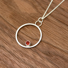 Load image into Gallery viewer, Garnet Kissing Circles Pendant