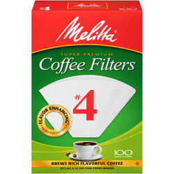 Melitta Coffee Filters #4 100 pack