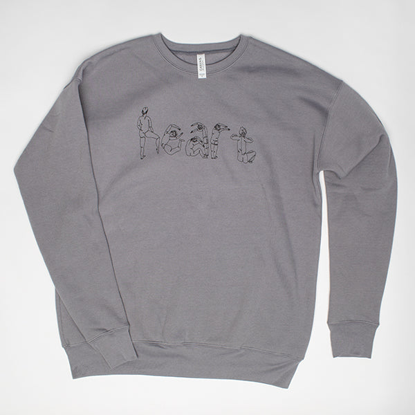 Heart Sweatshirt (grey)