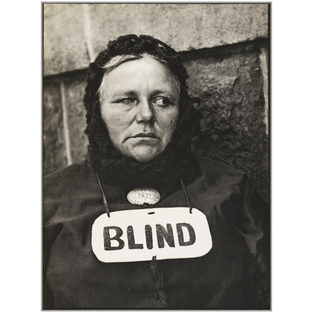 Photograph - New York (Blind) by Paul Strand, Camera Work XLIX/L, 1917