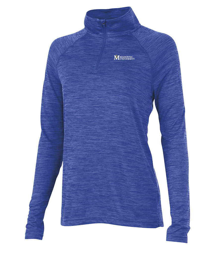Charles River Women's Space Dye Performance Pullover, Royal
