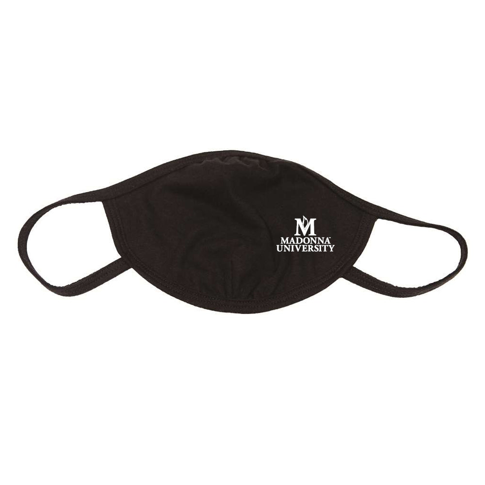 Cotton Face Mask W/ School Logo, Black