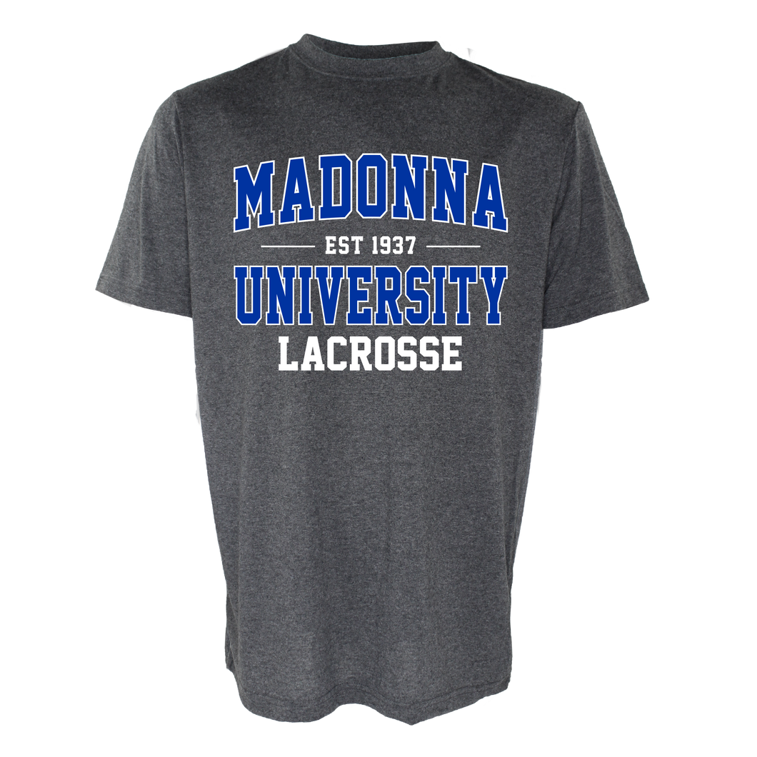 Name Drop Lacrosse Tee, Graphite