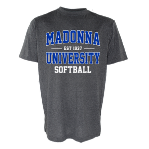Name Drop Softball Tee, Graphite