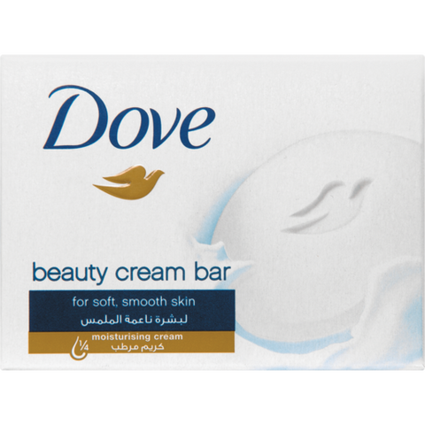 Dove White Beauty Cream Bar Soap 100g