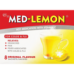 Med-Lemon Cold & Flu Medication 8 Pack