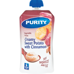 Purity Creamy Sweet Potato With Cinnamon Vegetable Puree Baby Food Pouch 110ml