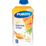 Purity Creamy Butternut & Peas Vegetable Puree Pouch 110ml