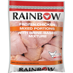 Rainbow Frozen Mixed Chicken Portions With Brine Based Mixture 2kg
